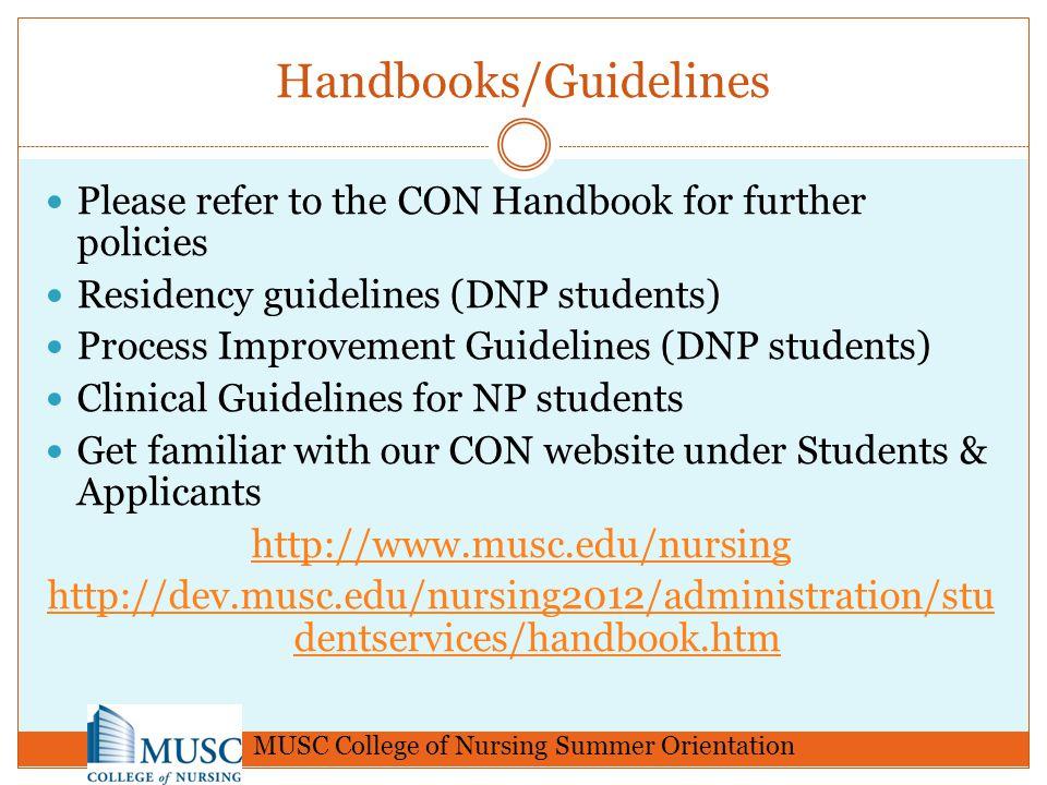 Handbooks/Guidelines