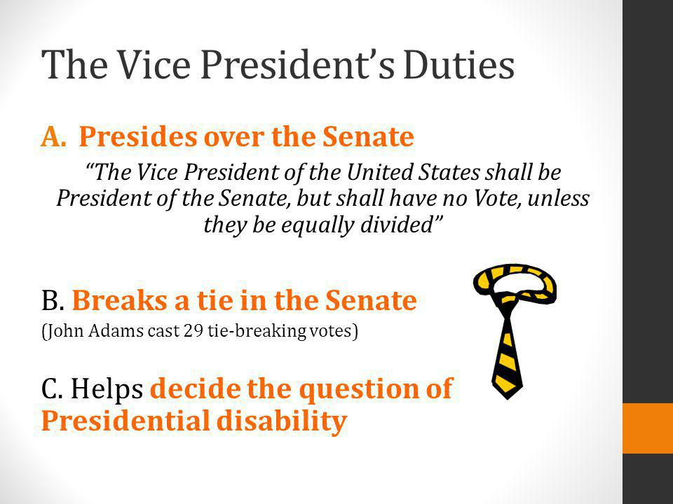 The Vice President's Duties