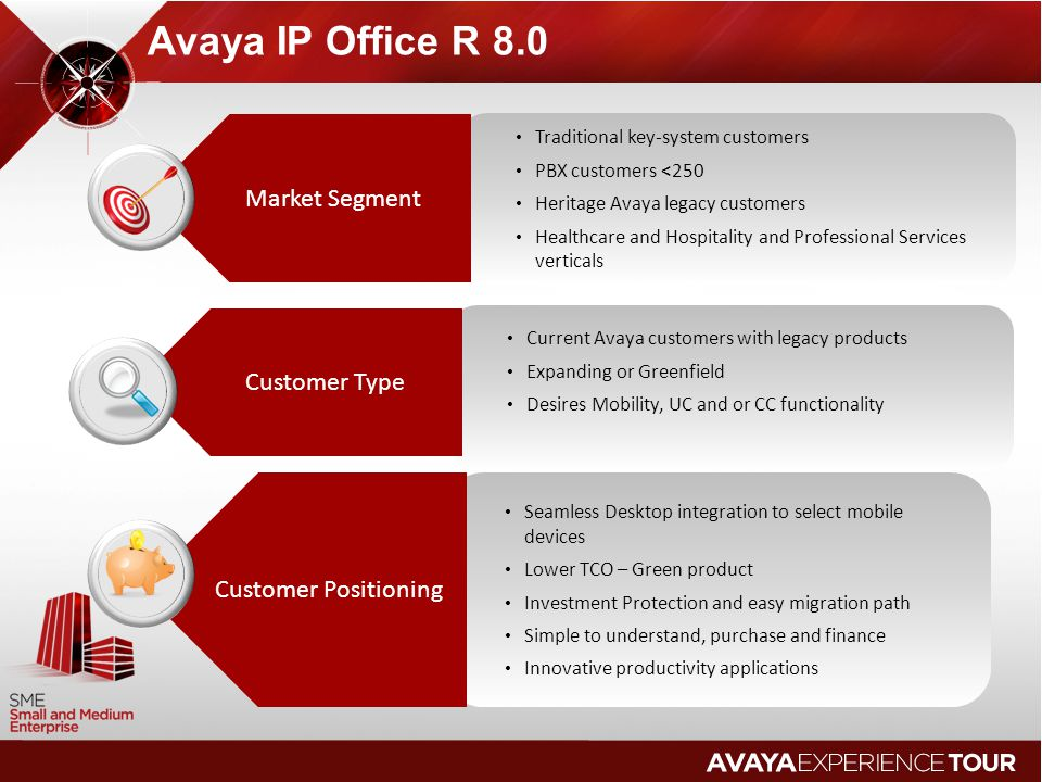 Avaya IP Office R 8.0 Market Segment Customer Type