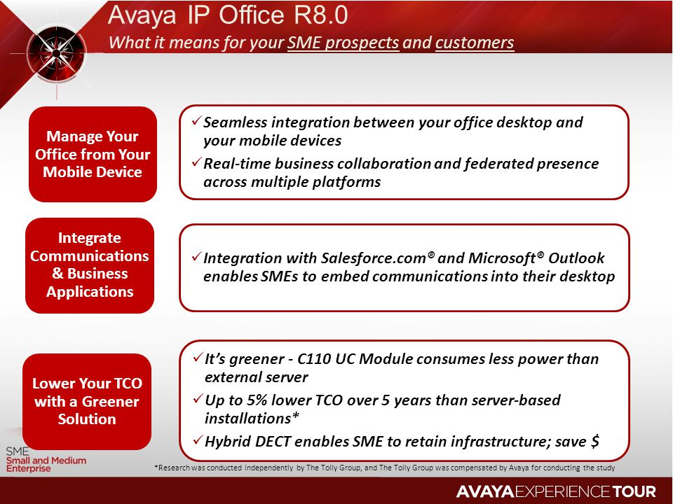 Avaya IP Office R8.0 What it means for your SME prospects and customers