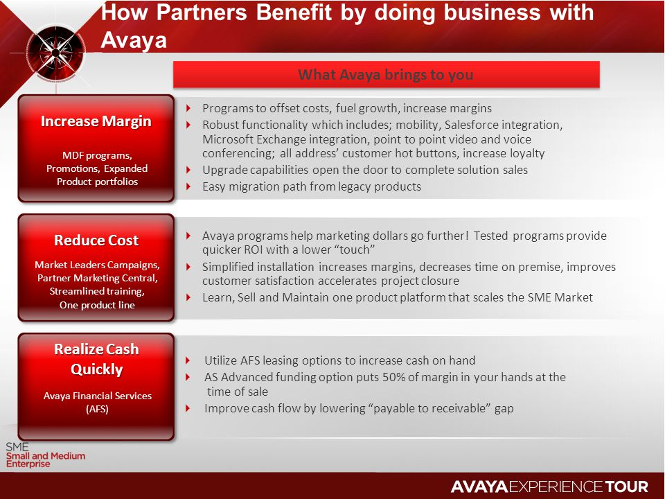 How Partners Benefit by doing business with Avaya