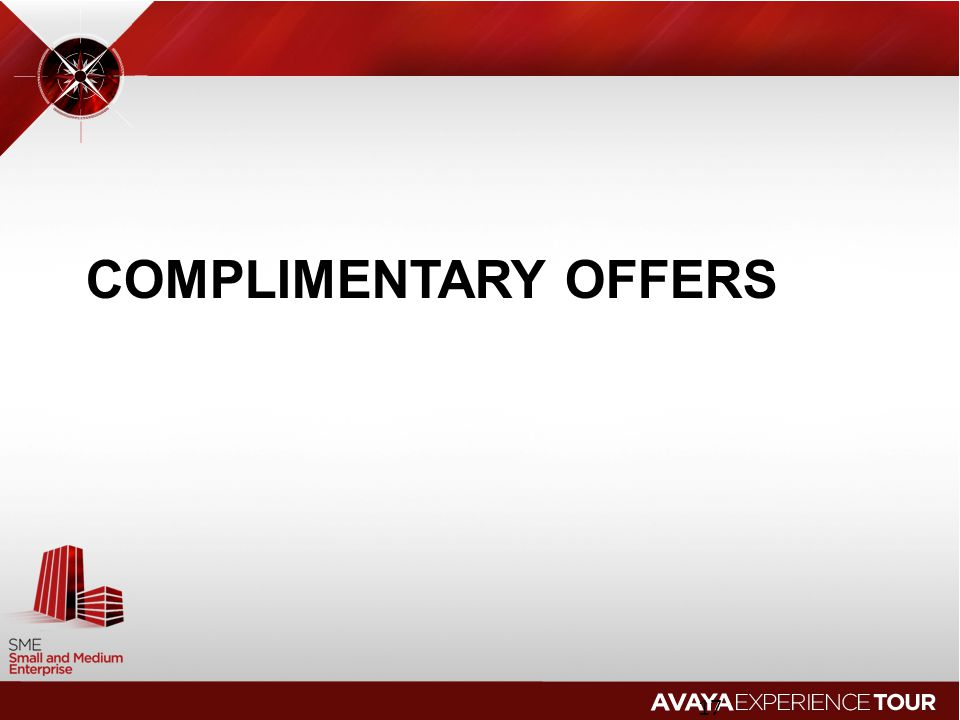 Complimentary offers