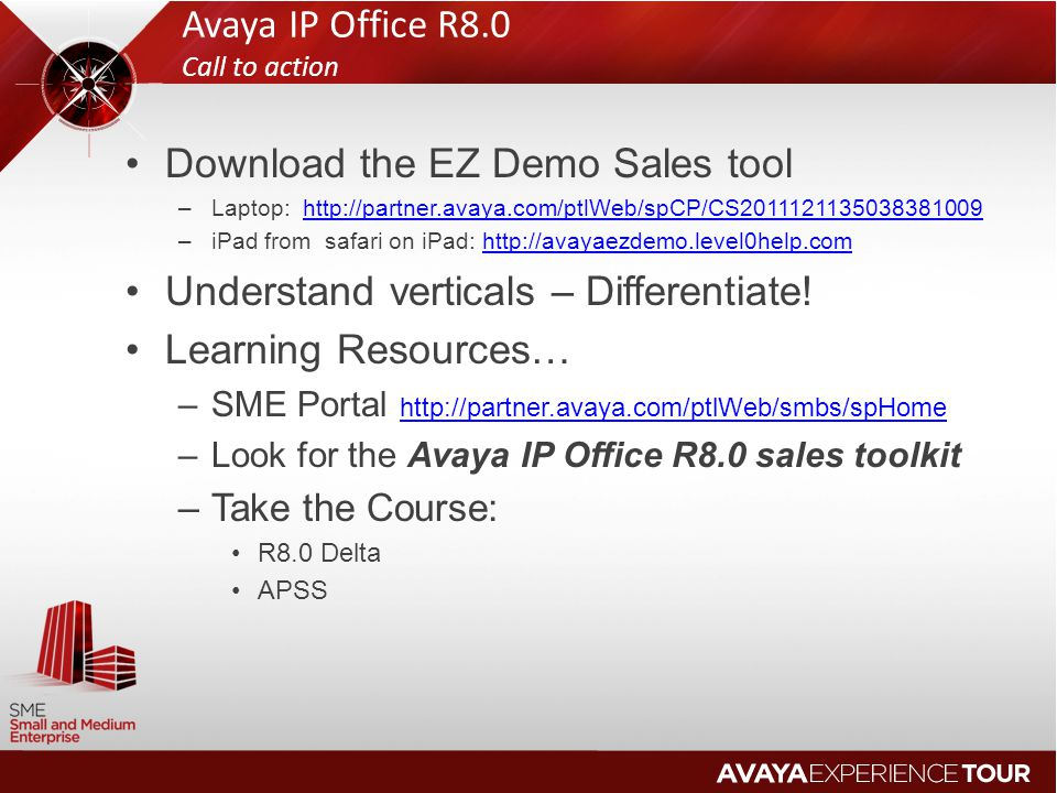 Avaya IP Office R8.0 Call to action
