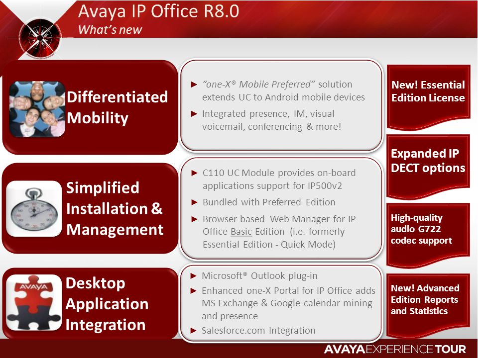 Avaya IP Office R8.0 Differentiated Mobility