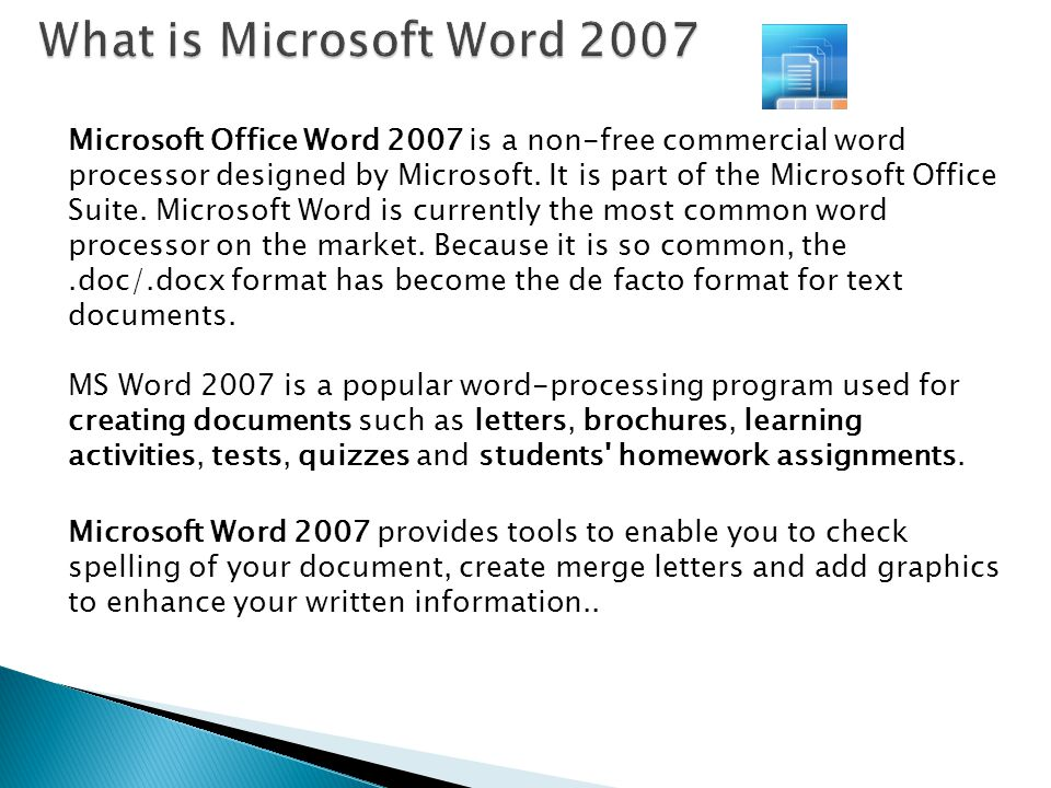 What is Microsoft Word 2007