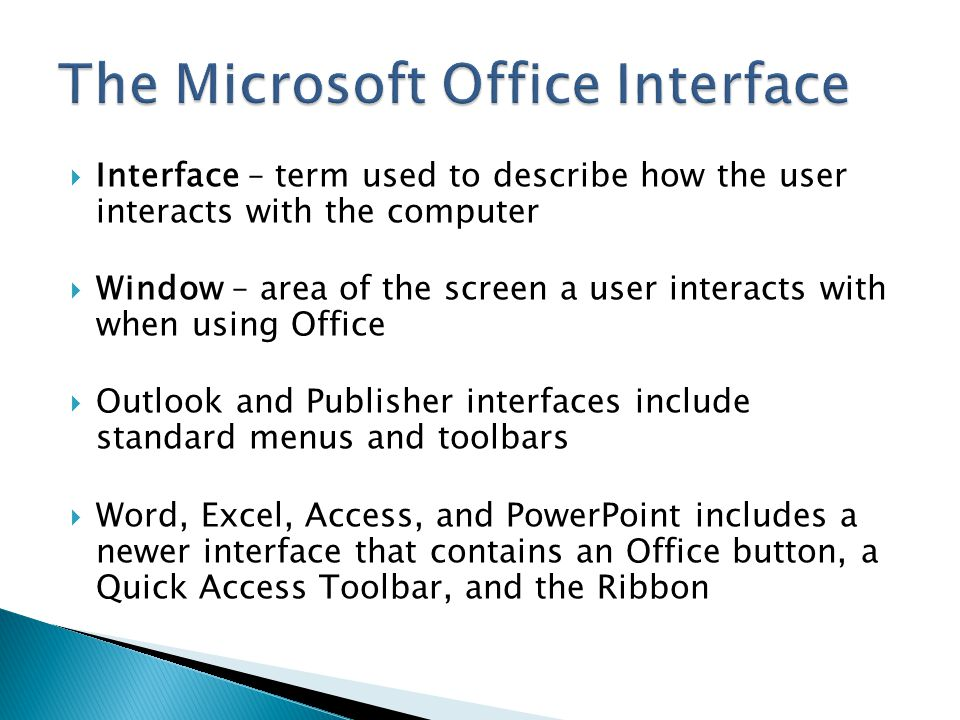 The Microsoft Office Interface