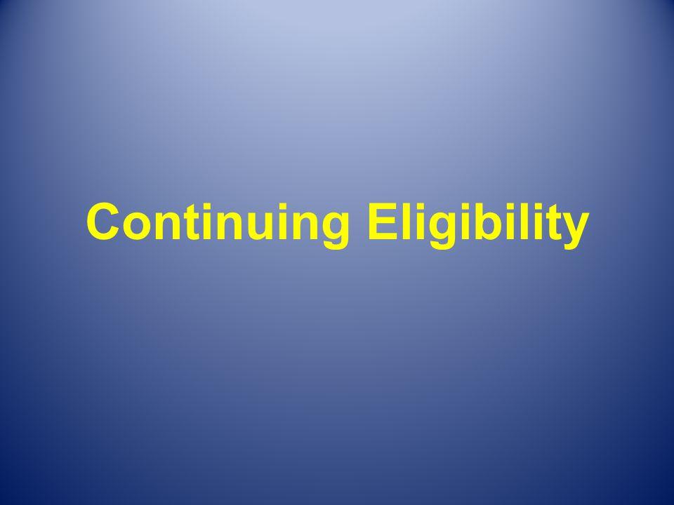 Continuing Eligibility