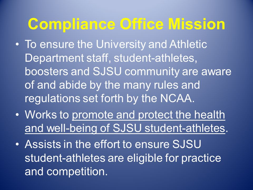 Compliance Office Mission