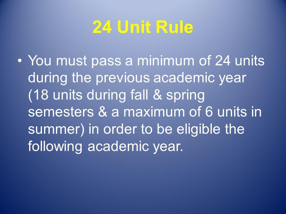 24 Unit Rule