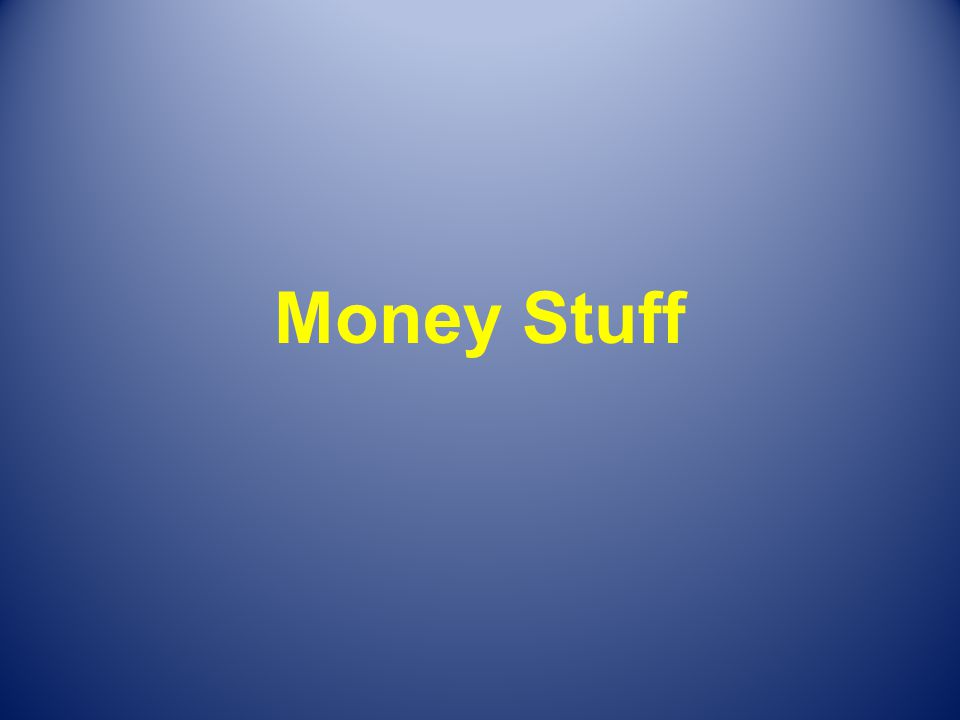 Money Stuff
