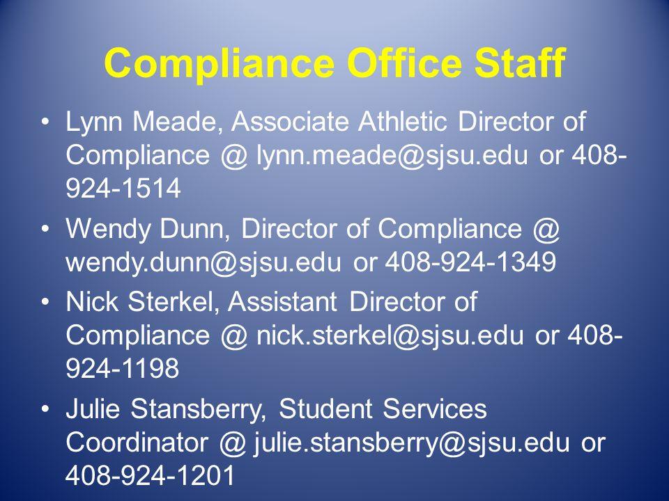 Compliance Office Staff