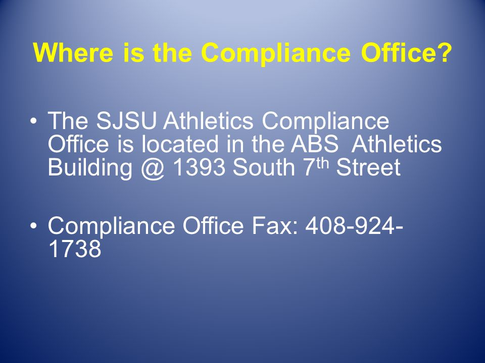 Where is the Compliance Office