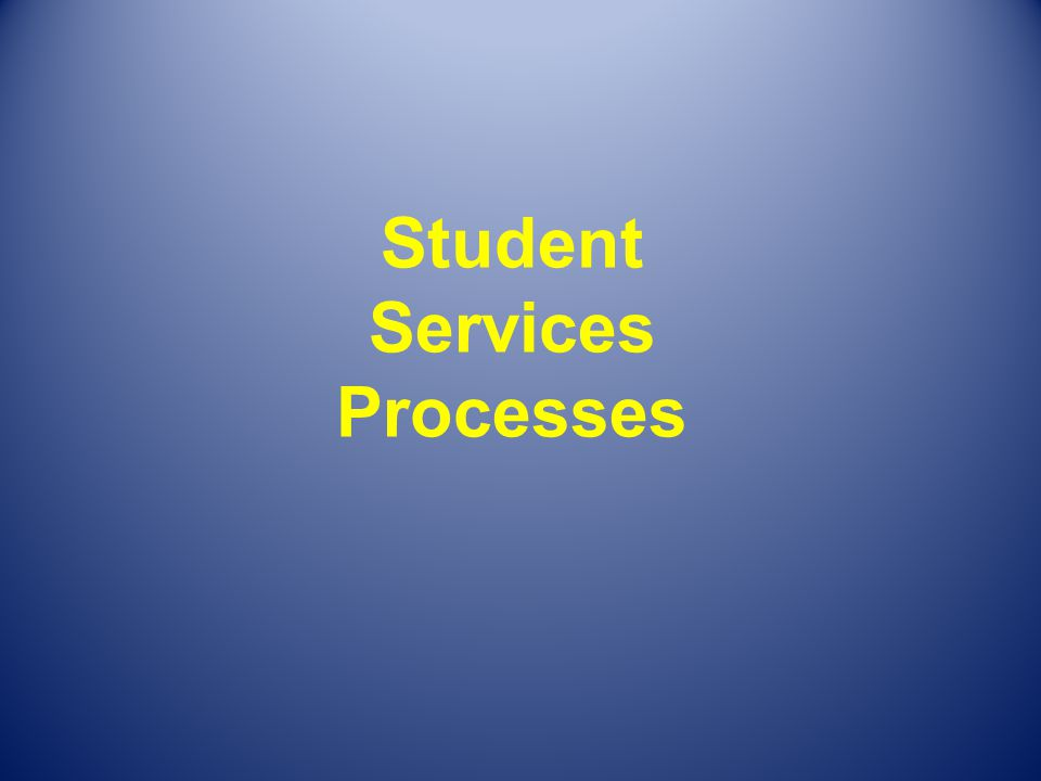 Student Services Processes