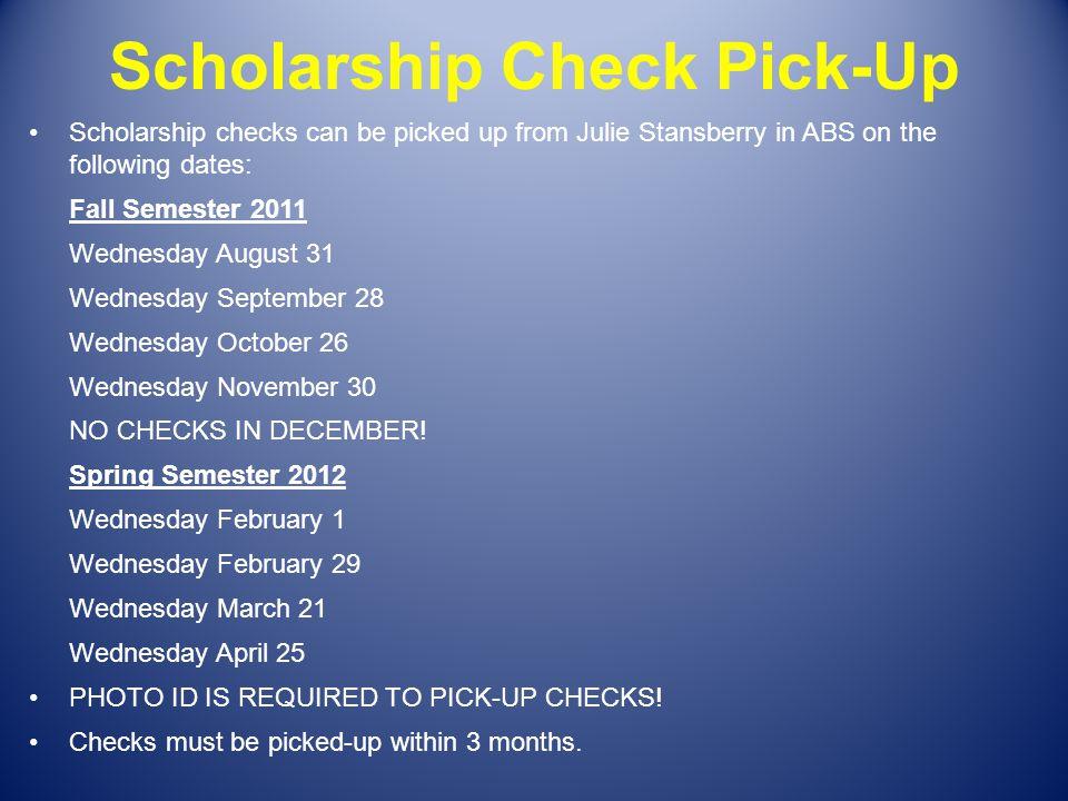 Scholarship Check Pick-Up