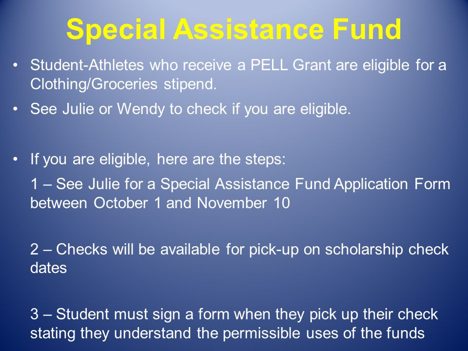 Special Assistance Fund