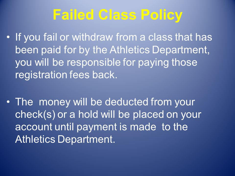 Failed Class Policy