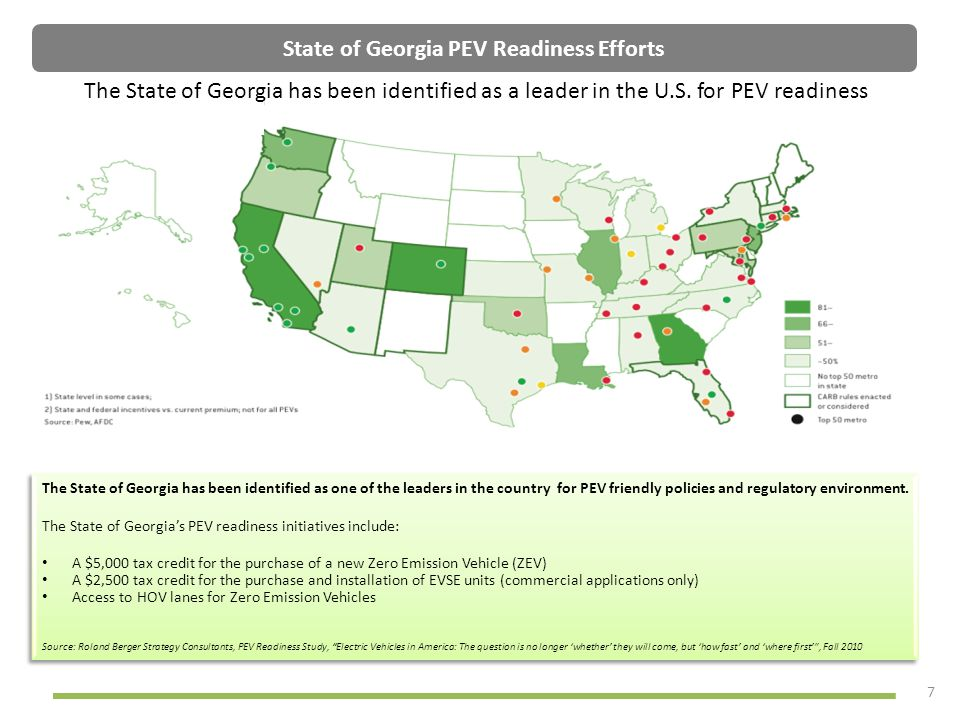 State of Georgia PEV Readiness Efforts