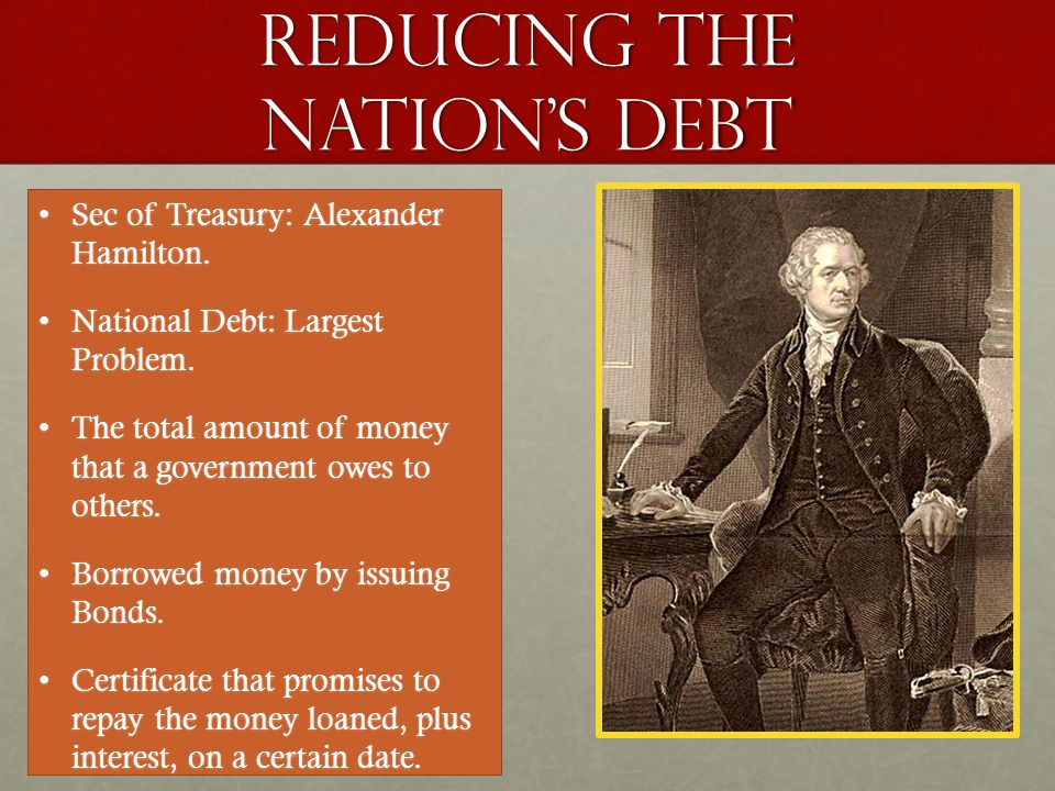 Reducing the nation's debt