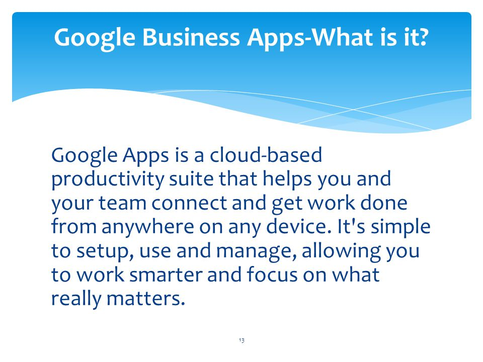 Google Business Apps-What is it