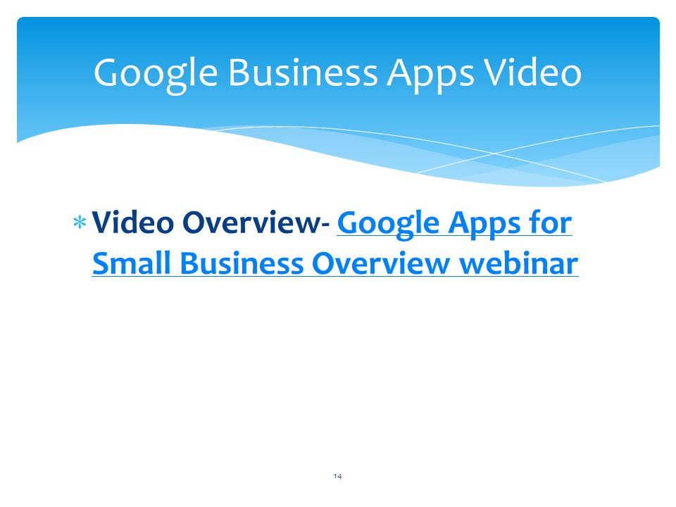 Google Business Apps Video