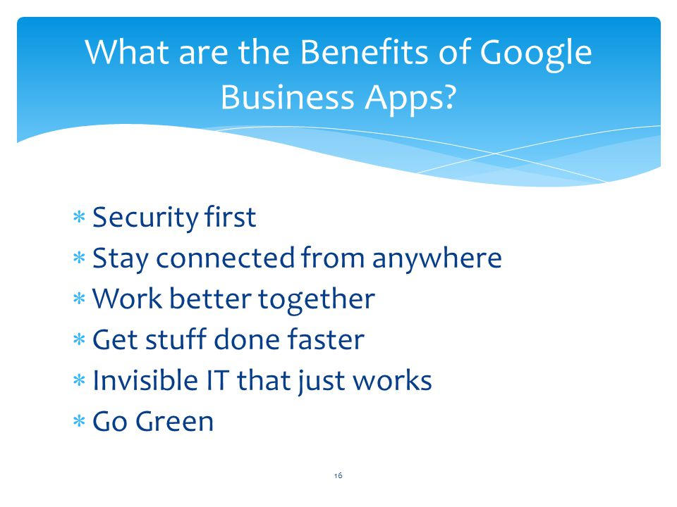 What are the Benefits of Google Business Apps