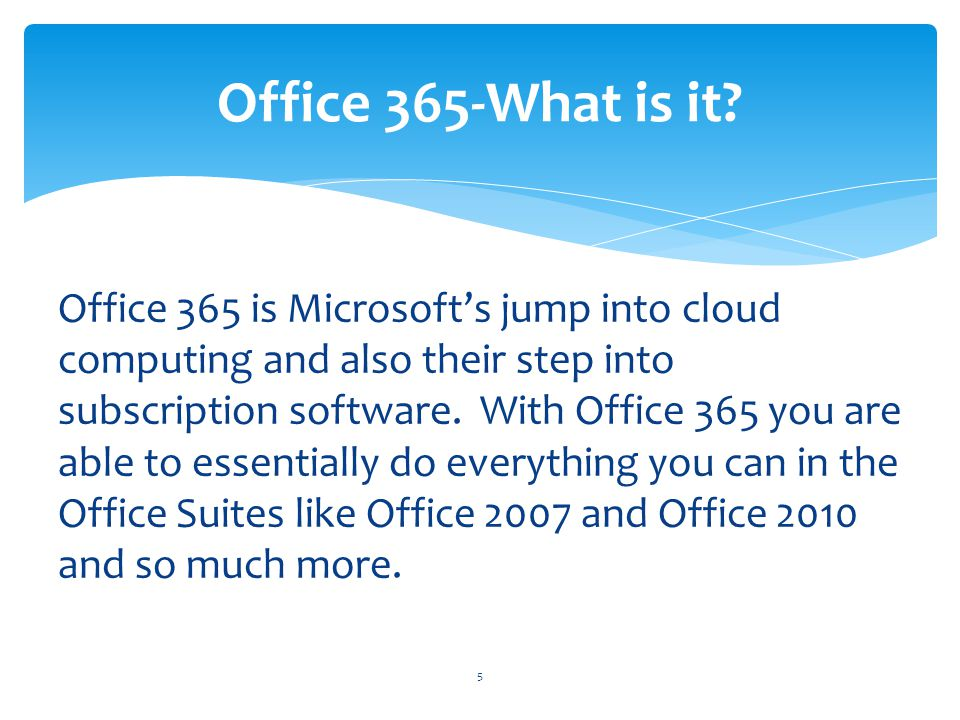 Office 365-What is it
