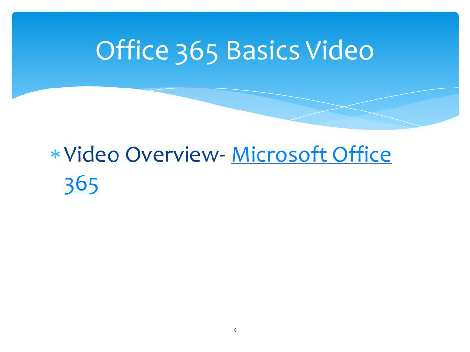 Office 365 Basics Video Video Overview- Microsoft Office 365