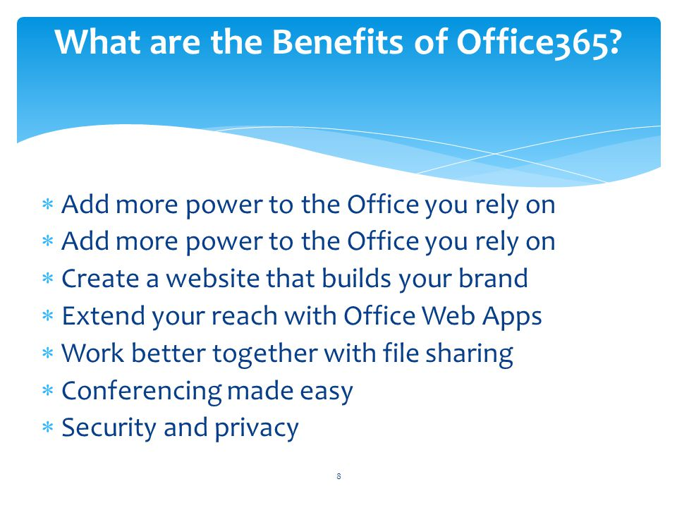 What are the Benefits of Office365