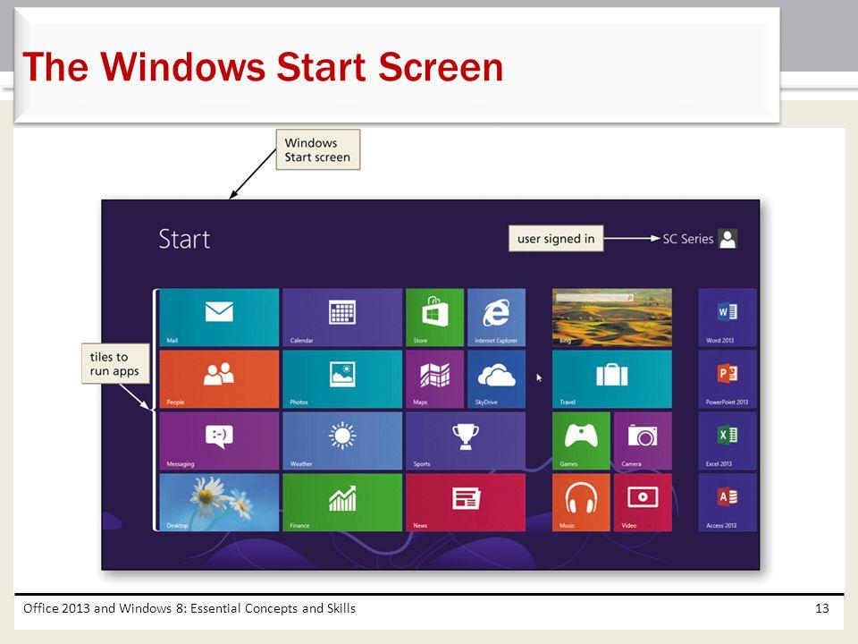 The Windows Start Screen