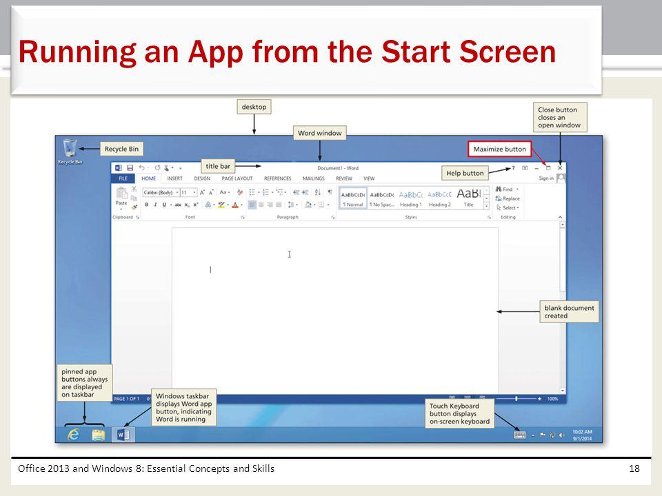 Running an App from the Start Screen