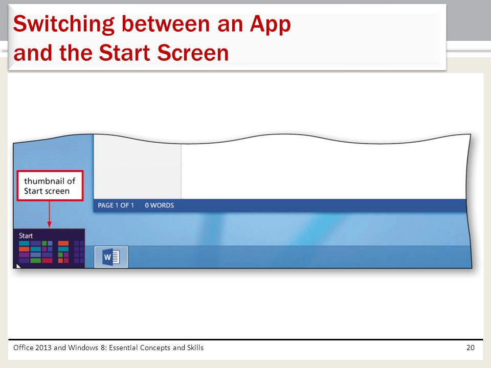 Switching between an App and the Start Screen