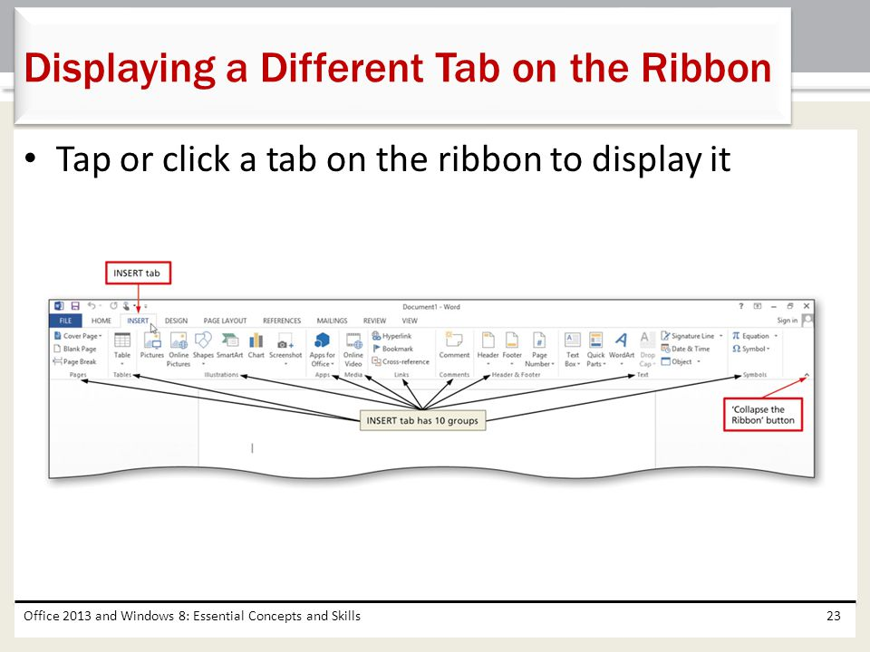 Displaying a Different Tab on the Ribbon