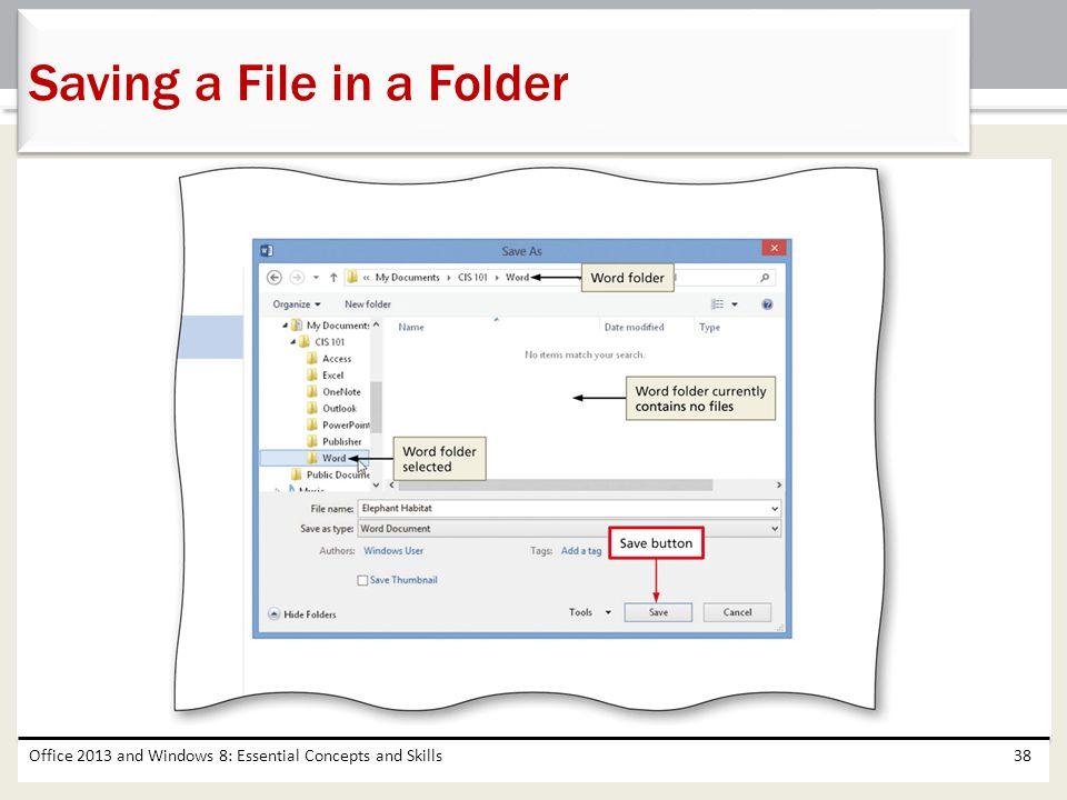 Saving a File in a Folder