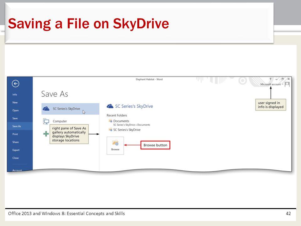 Saving a File on SkyDrive