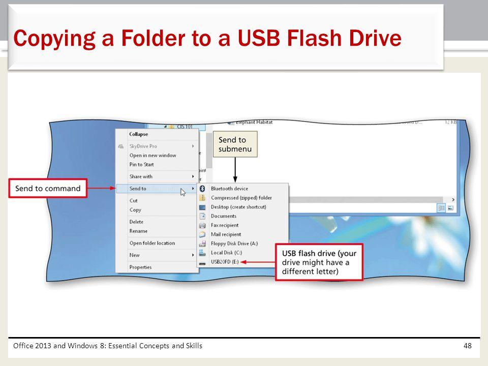 Copying a Folder to a USB Flash Drive