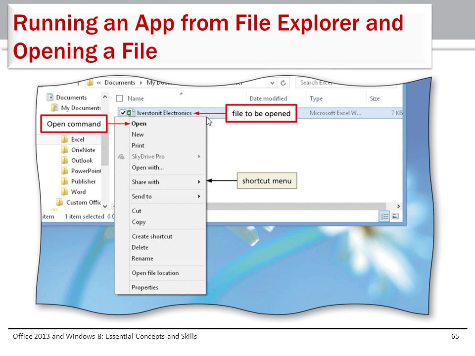 Running an App from File Explorer and Opening a File
