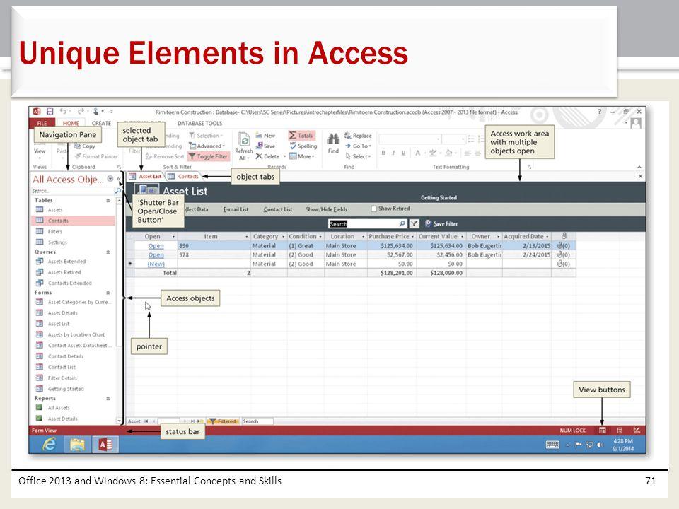Unique Elements in Access