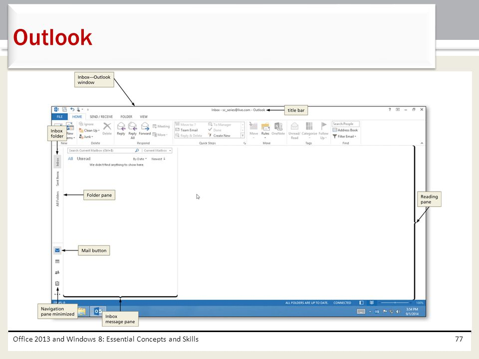 Outlook Office 2013 and Windows 8: Essential Concepts and Skills