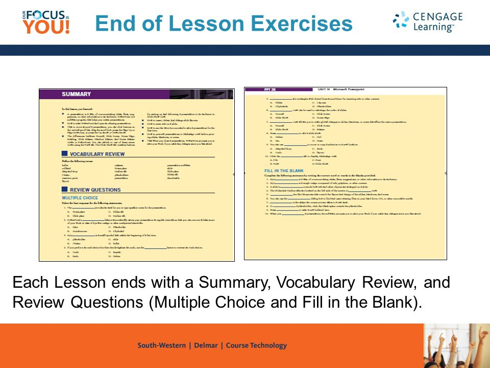 End of Lesson Exercises