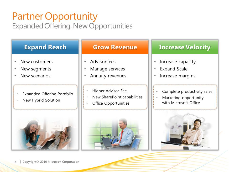 Partner Opportunity Expanded Offering, New Opportunities