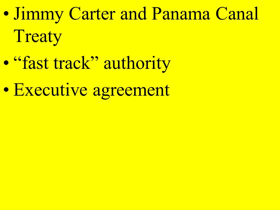 Jimmy Carter and Panama Canal Treaty