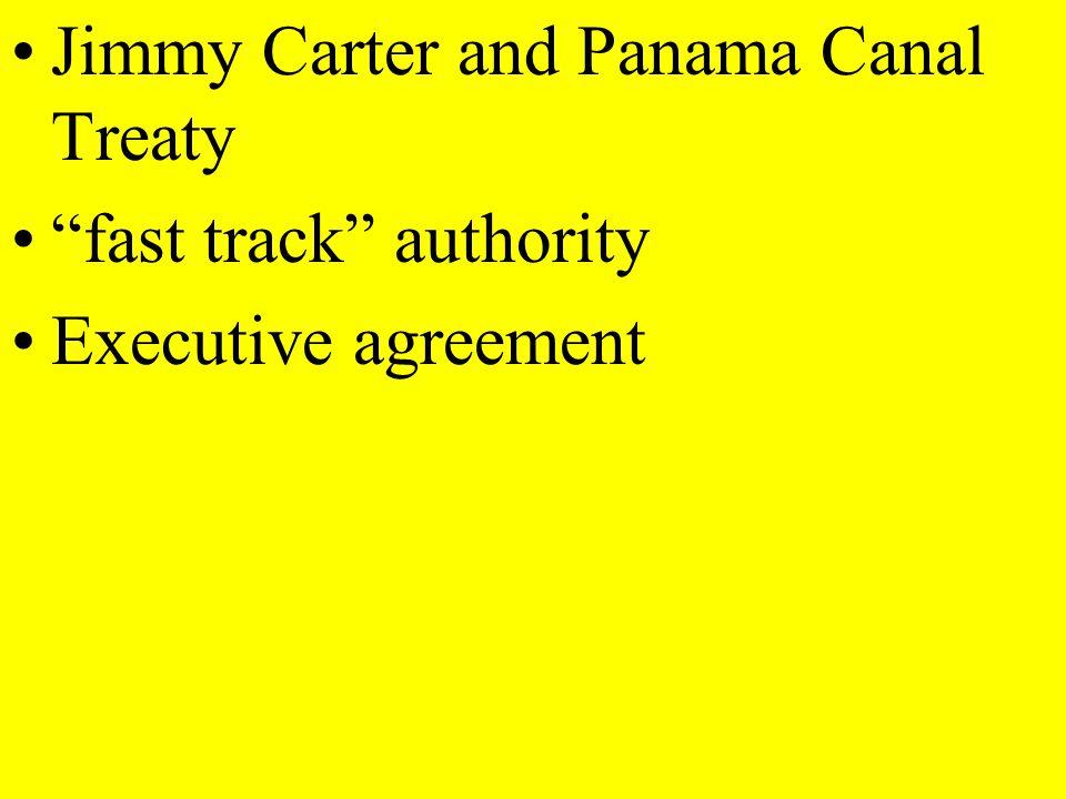 Jimmy Carter and Panama Canal Treaty