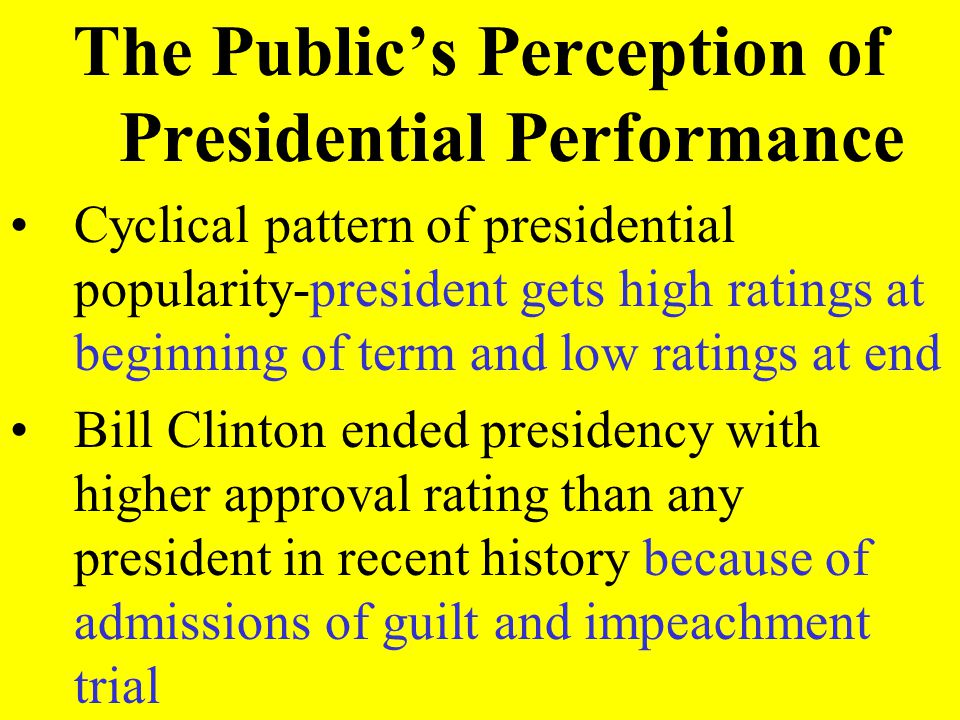The Public's Perception of Presidential Performance