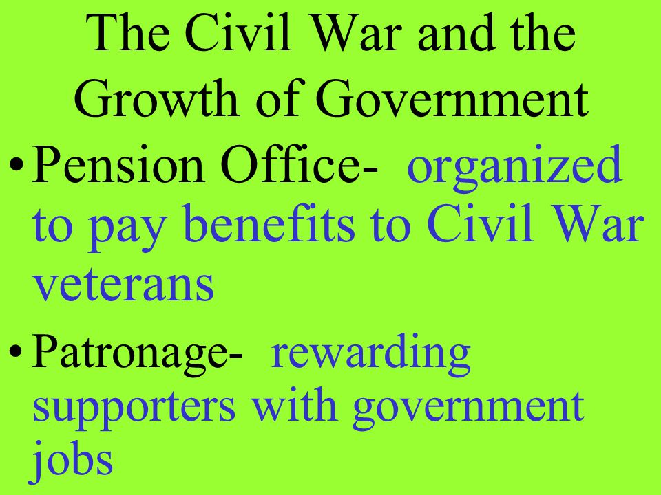 The Civil War and the Growth of Government