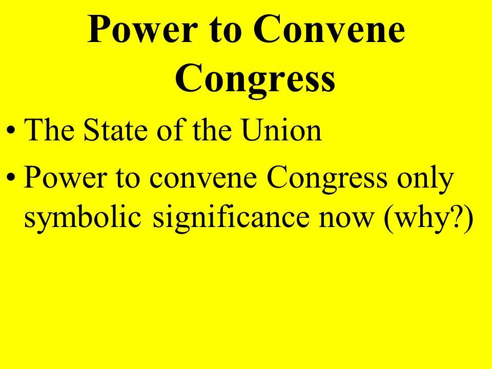 Power to Convene Congress