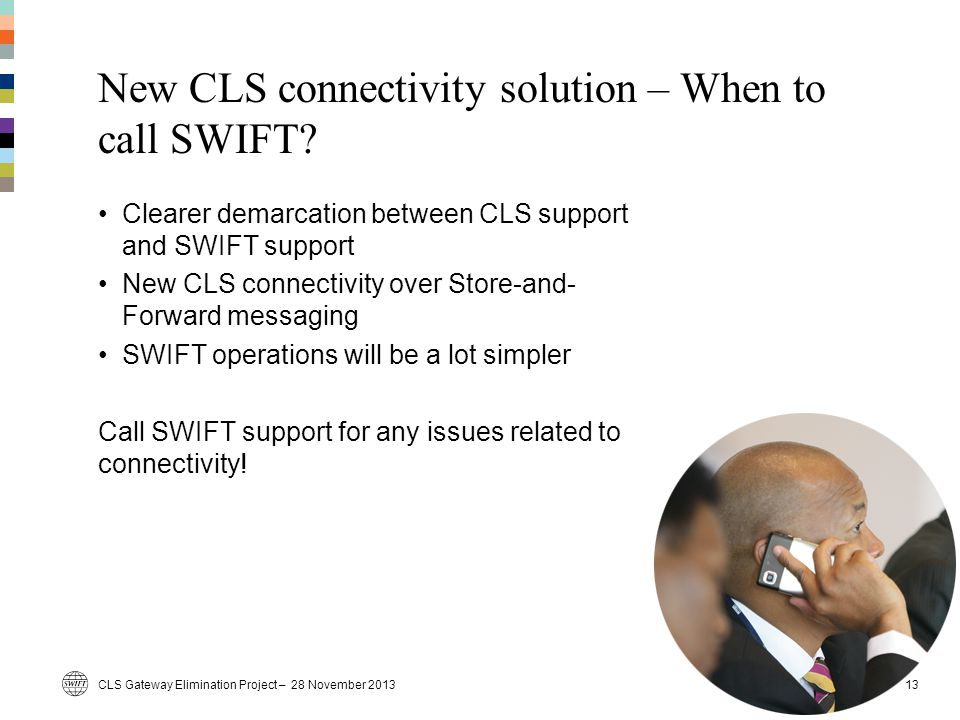 New CLS connectivity solution – When to call SWIFT
