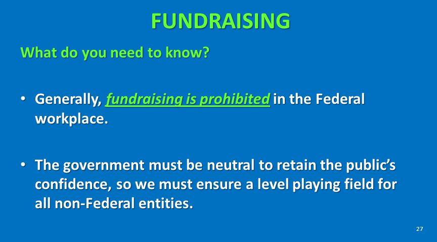 FUNDRAISING What do you need to know
