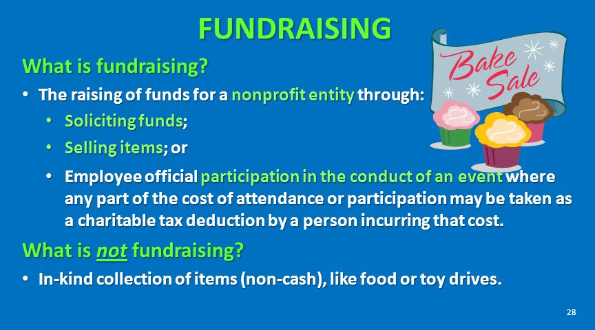 FUNDRAISING What is fundraising What is not fundraising