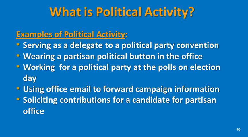 What is Political Activity