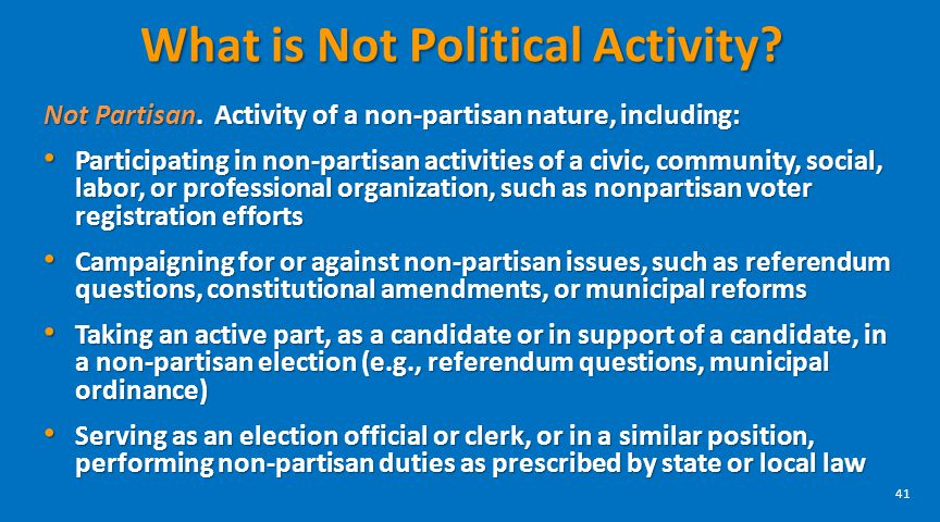 What is Not Political Activity